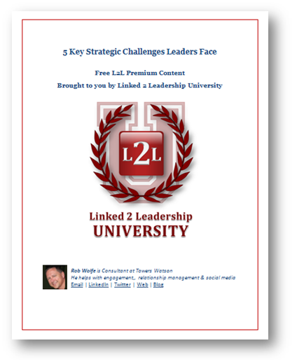 5 Key Strategic Challenges Leaders Face